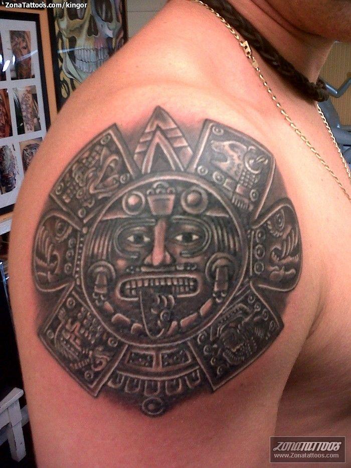 Las 25 mejores ideas sobre tatuajes calendario azteca en for Tattoos mexicanos fotos