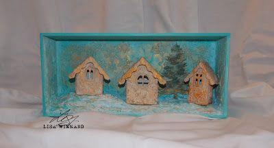 Tando Creative: step-by-step with Lisa - Christmas box scene