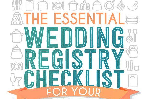 Wedding Soiree Blog by K'Mich, Philadelphia's premier resource for wedding planning and inspiration - checklist in blue pink and white for wedding registry