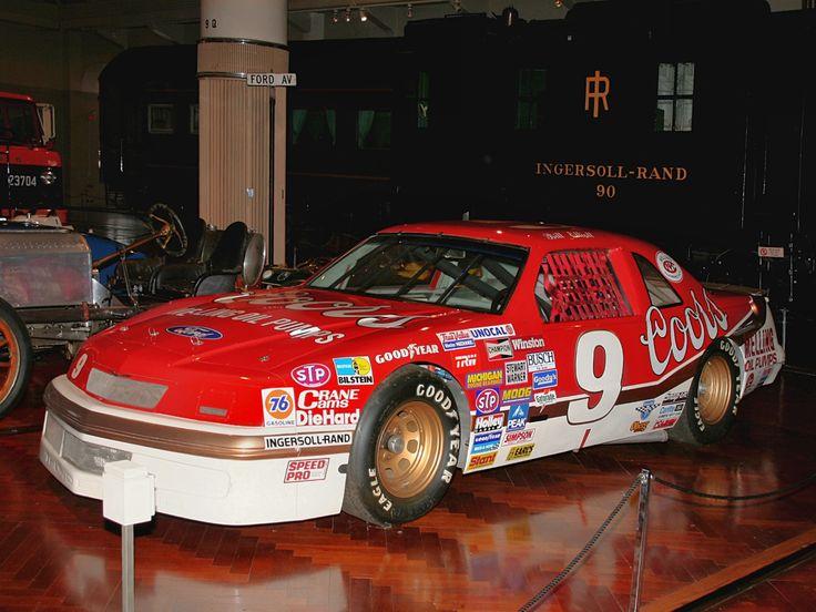 nascar bill ellott | 1987 Ford Thunderbird NASCAR Race Car Qualified By Bill Elliott At 212