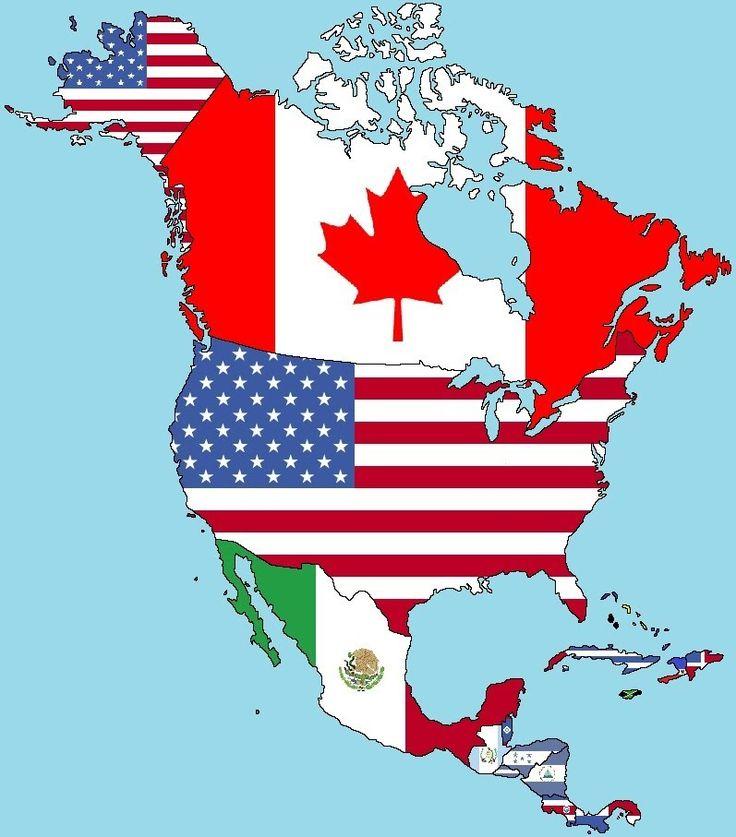 Banderas de América del Norte y Central