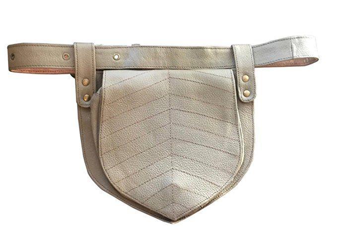Leather Utility Belt | Simple Taupe Brown Leaf, 2 Pocket | travel, cosplay, festival | fits iPhone