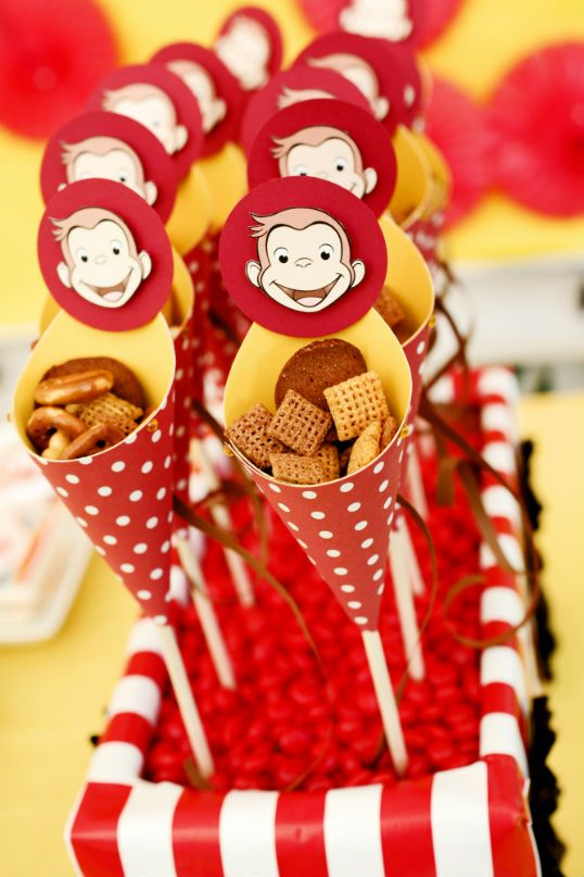 #Popcorn #Cones #Curious George  The Party Wagon - Blog - CURIOUS GEORGE AT THE DRIVE INMOVIE