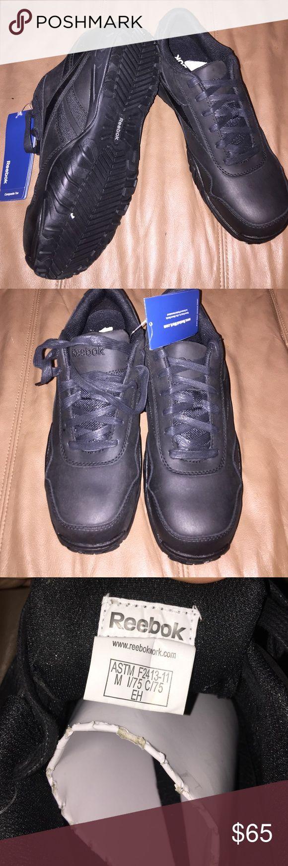 Men's Reebok Steel toe work Tennis size 10 New Reebok men's size 10 steel toe black tennis work shoes Reebok Shoes Athletic Shoes