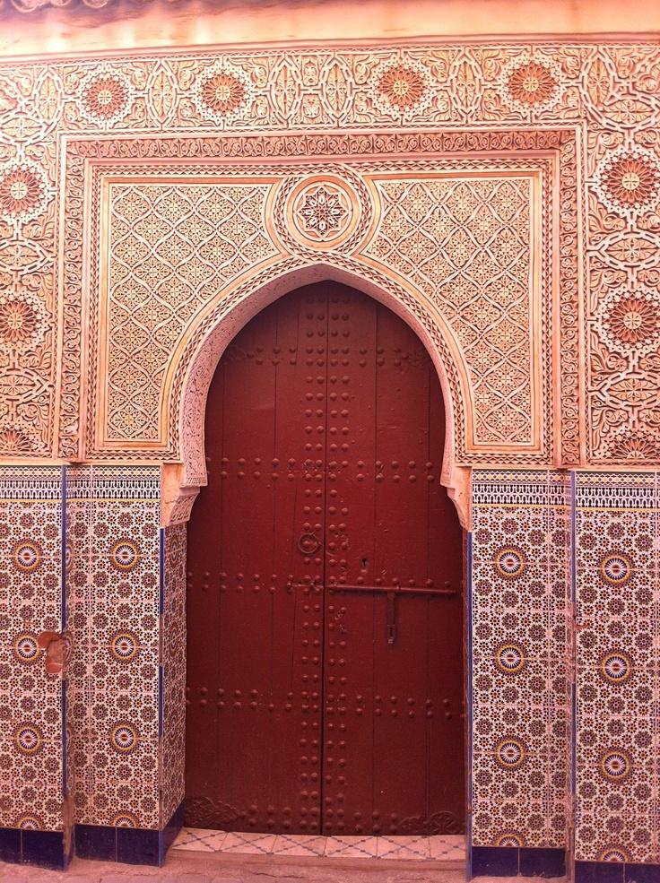 Gorgeous door in the old town of Marrakech