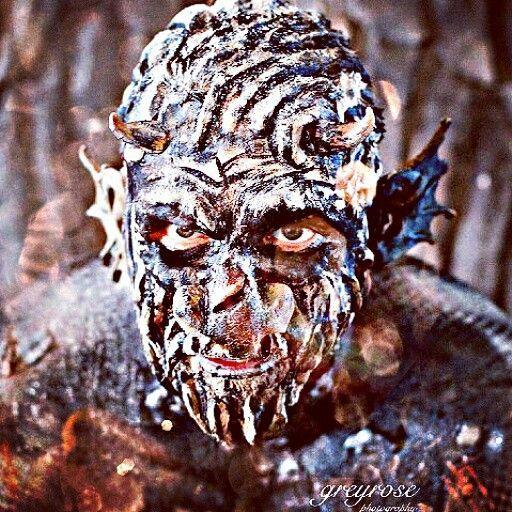 My work #grotesque #gargoyle #creature #SFX #bodypaint #prosthetics # Cyborg body paint sfx #specialeffects and #body paint by #charmainewarpaintorchard,  #GOREgeousPortraits. #facepaint #shootthetownred #dark #makeup