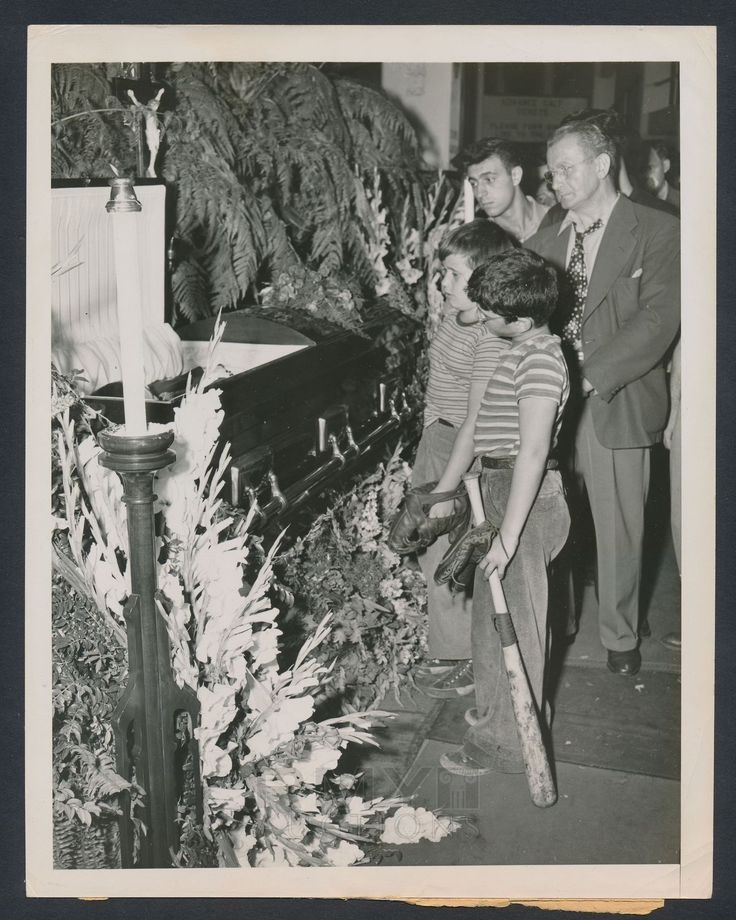 babe ruth funeral and bats on pinterest