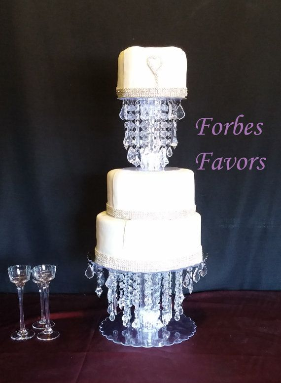 Best Crystal Cake Stand Ideas On Pinterest Chandelier Cake