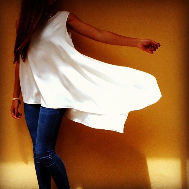 #camisalarga #blanca #frescura #verano