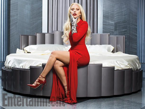 Given Lady Gaga's status as a style icon, it's not surprising that #AmericanHorrorStory's look this year is fashionably following suit. #AHSHotel Image Credit: Michael Avedon for EW.