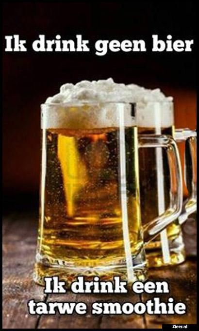 Ik drink gen bier