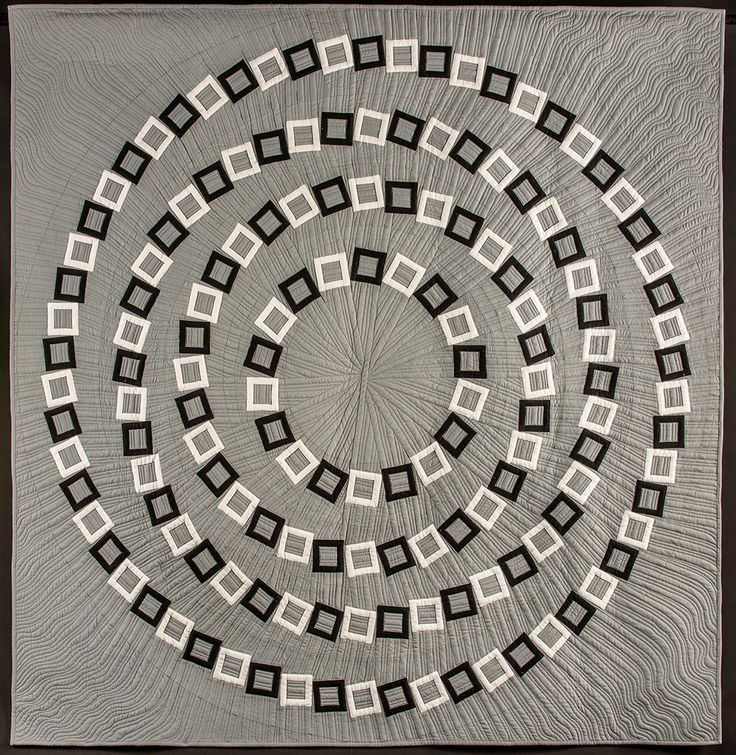 Great movement and spiral illusion in concentric circles. QuiltCon 2017 Award Winners   MQG Community