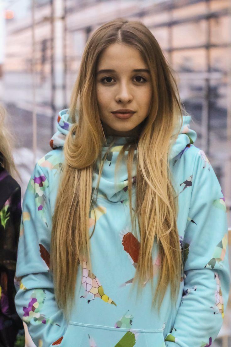 Portrait of Marta in #colorshake origami hoodie
