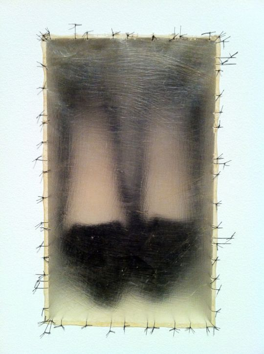 The stitching around the edges of the shoes is so fragile. Plus the human presses left by the shoes is chilling when you know these shoes where often used to identify women where victimized. Altrabiliarios, by Doris Salcedo