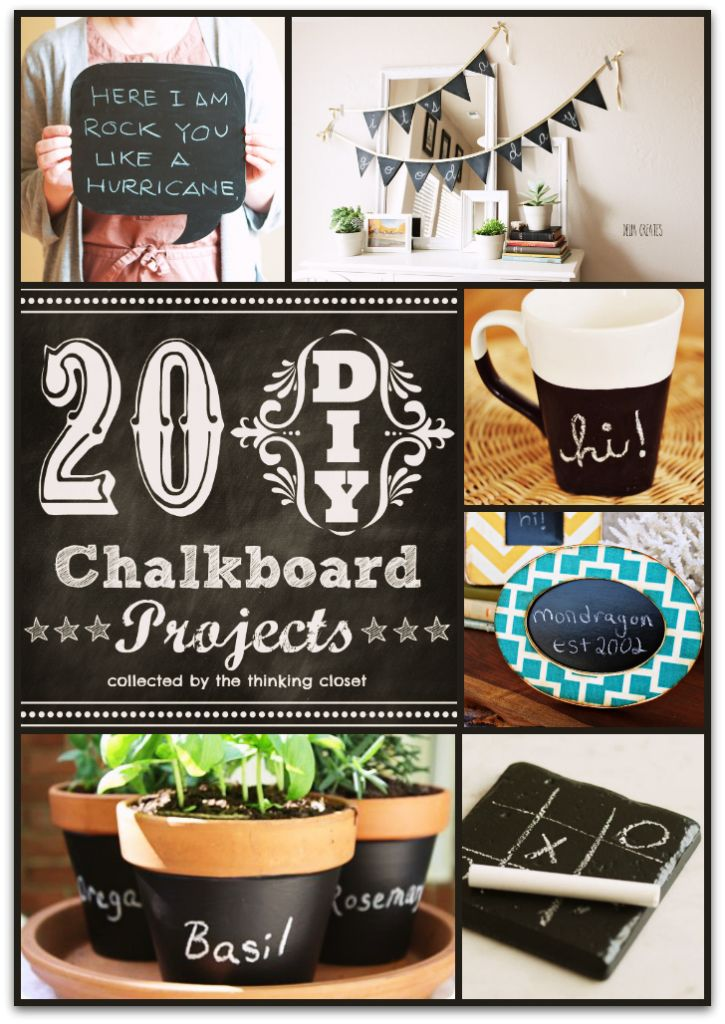 1000 images about chalkboard paint crafts on pinterest for Chalkboard paint ideas