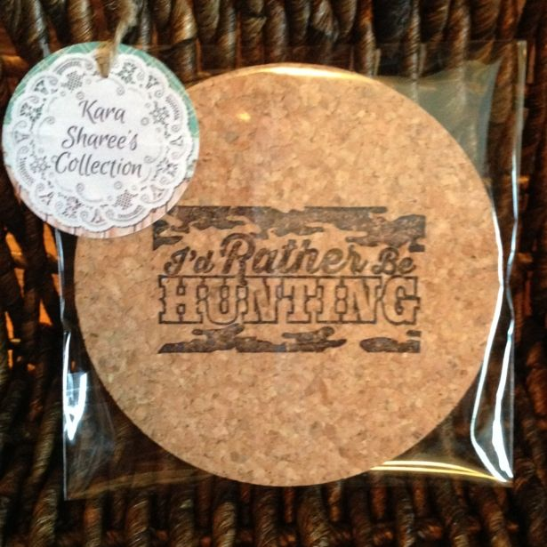 Drink Coasters - Hunting Coasters - Hostess Gift - Tableware - Rustic Cabin Decor - Hunting Lodge Decor - Gift For Hunter - Barware - Party Favors by Kara Sharee's Collection on Gourmly
