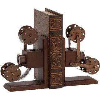 Benzara The Classic Wood Metal Book End