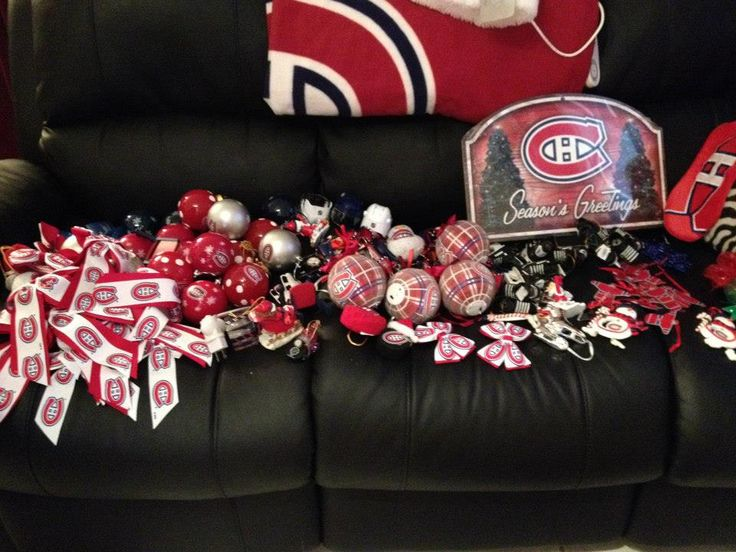 An overview of the ornaments that I have collected for my Montreal Canadiens (Habs) Hockey Christmas Tree.