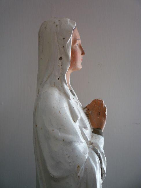 French Chalkware Virgin Mary