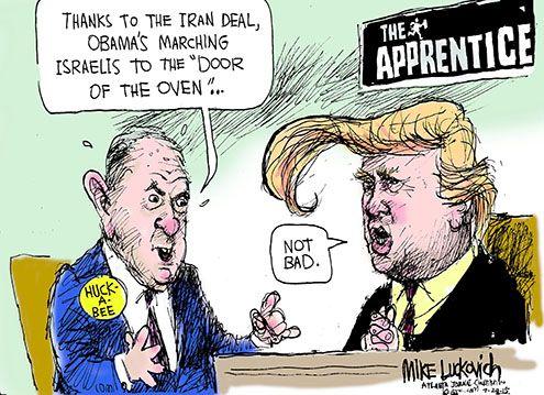 Luckovich cartoon: Huckabee Iran deal comments