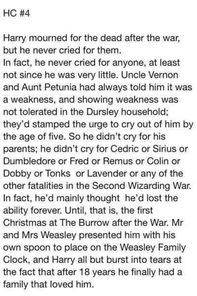 But he has been a part of the weasley family from the moment mrs. weasley gave him his first christmas jumper.