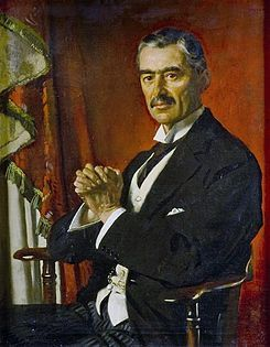 "This is a picture of British Prime Minister, Neville Chamberlain of the Triple Entente. The phrase ""Peace for Our Time"" was spoken by Chamberlain in his speech concerning the Munich Agreement and the Anglo-German Declaration."