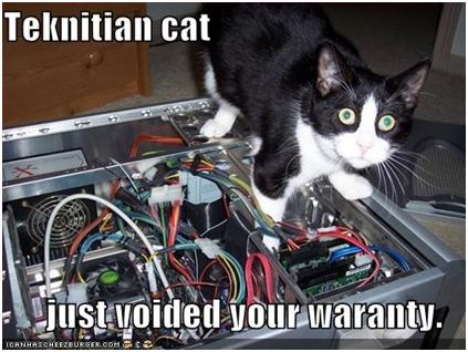Voided Your Warranty: Techi Kittens, Funny Technology, Computers Hate, Fe Tech, Crazy Cat, Laughter Lolcat, Hate Youtechniciancatjpg, Catstoo Funny, Cat Lady