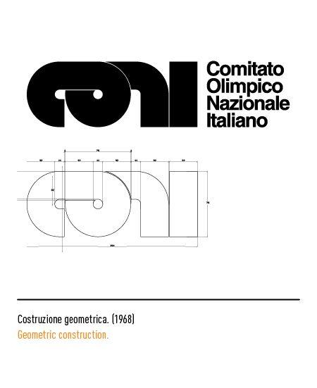 Marchio Coni - Costruzione geometrica 1968