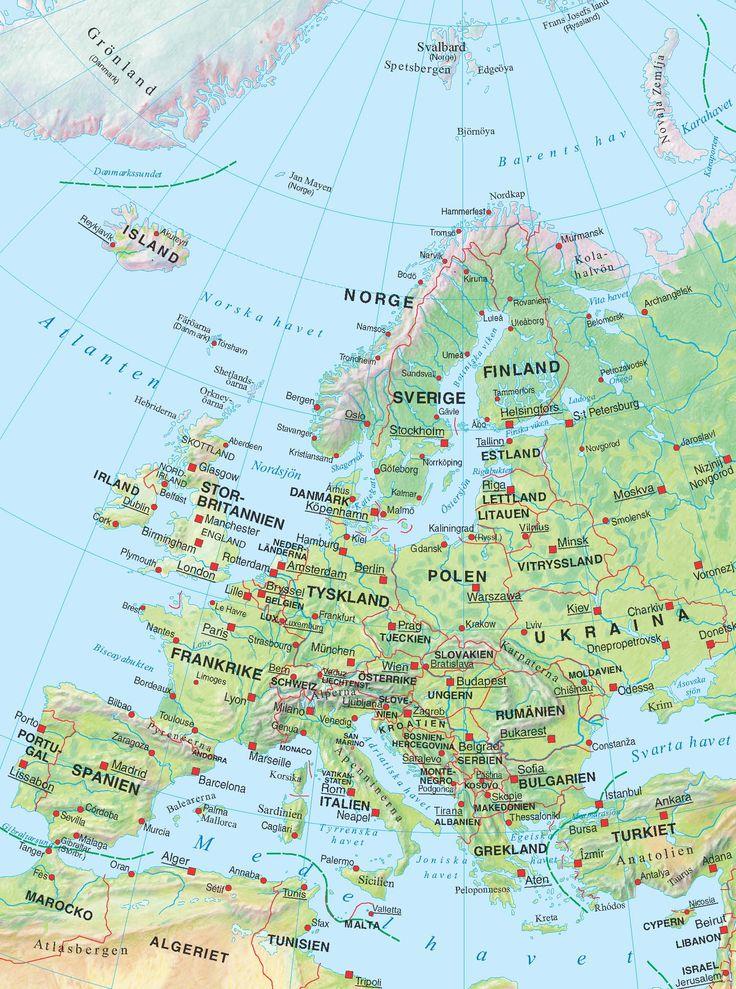 Majema - Kartor Europa, Sverige och Världen