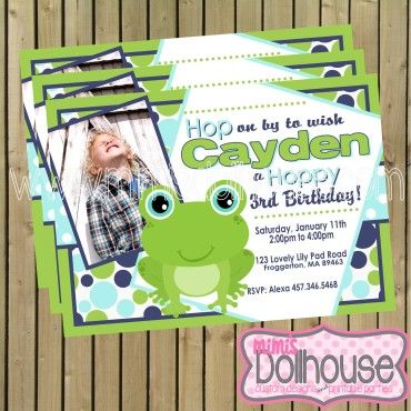 invitation frog http://mimisdollhouse.com/product/frog-invitation-copy/ #froginvitation