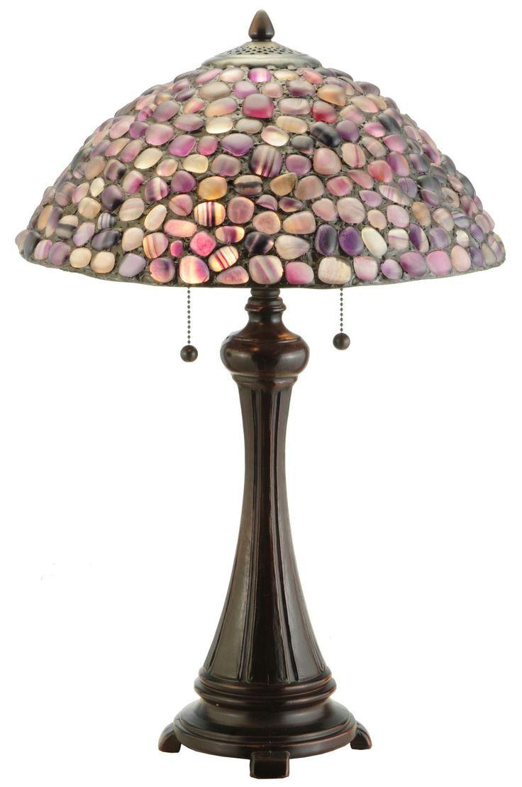 25 Inch H Agata Purple Table Lamp