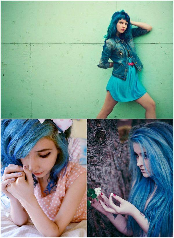 mutiger ombre look anleitung dip dye blaue haare mit extensions vpfashion frisuren hair. Black Bedroom Furniture Sets. Home Design Ideas