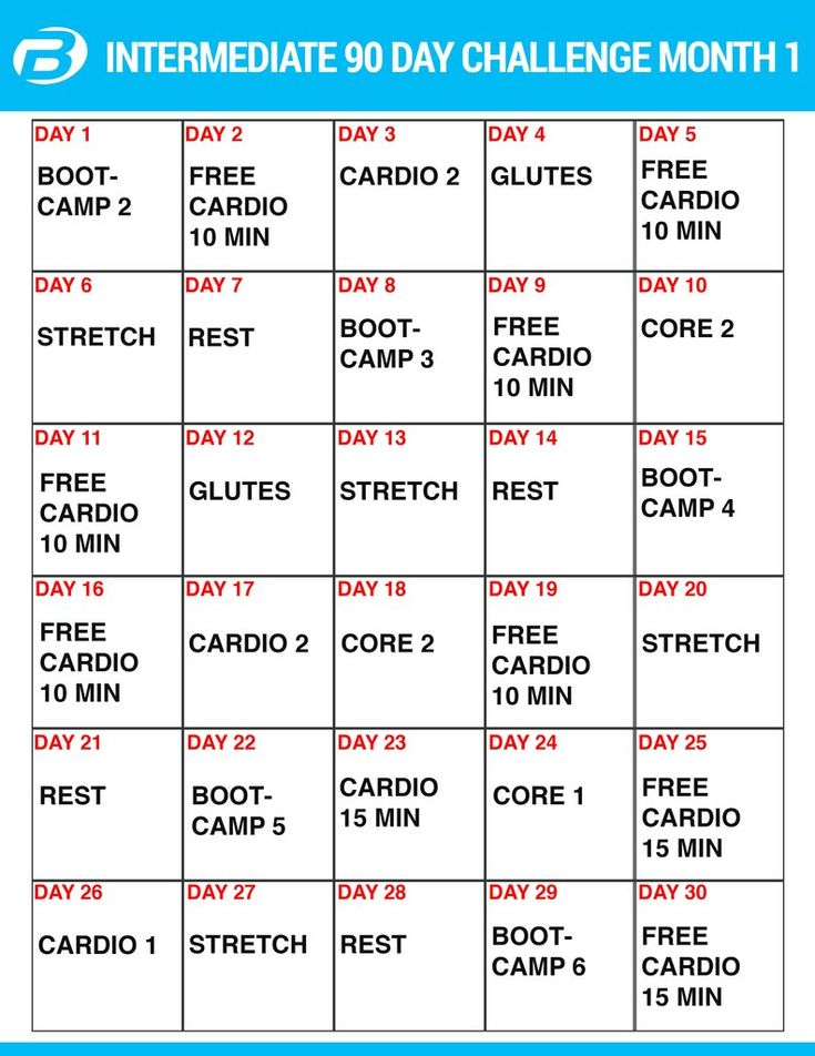 Best   Day Workout Plan Ideas On   Month Workout