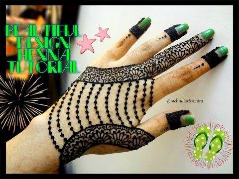 Beautiful Henna mehndi jewelry inspired design Tutorial for EID - YouTube