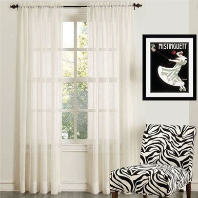 ORGANZA Sheer Voile Rod Pocket Curtain Panel WHITE - Quickfit Blinds and Curtains