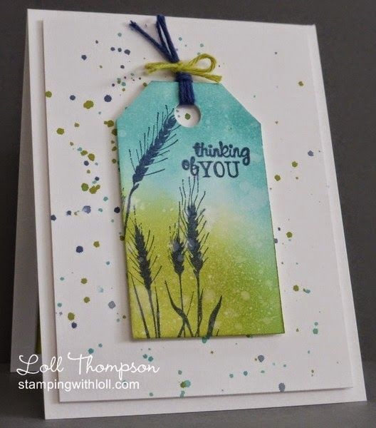 Stamping Ideas For Card Making Part - 29: Good Design For Sympathy Card. Stamping With Loll: Silhouette Grasses For  Kathleen