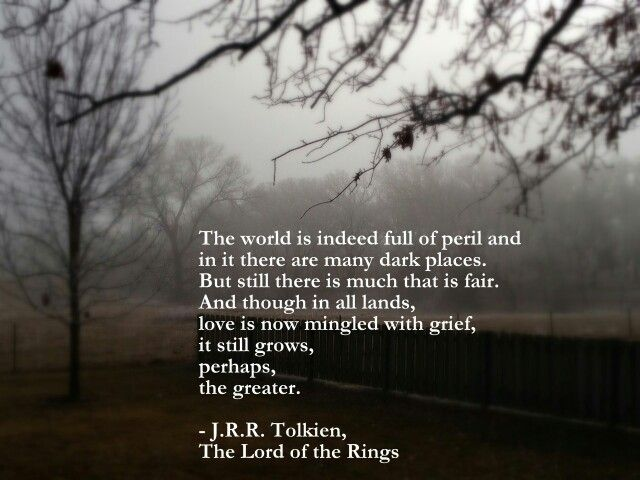 Tolkien Quote From Lord Of The Rings
