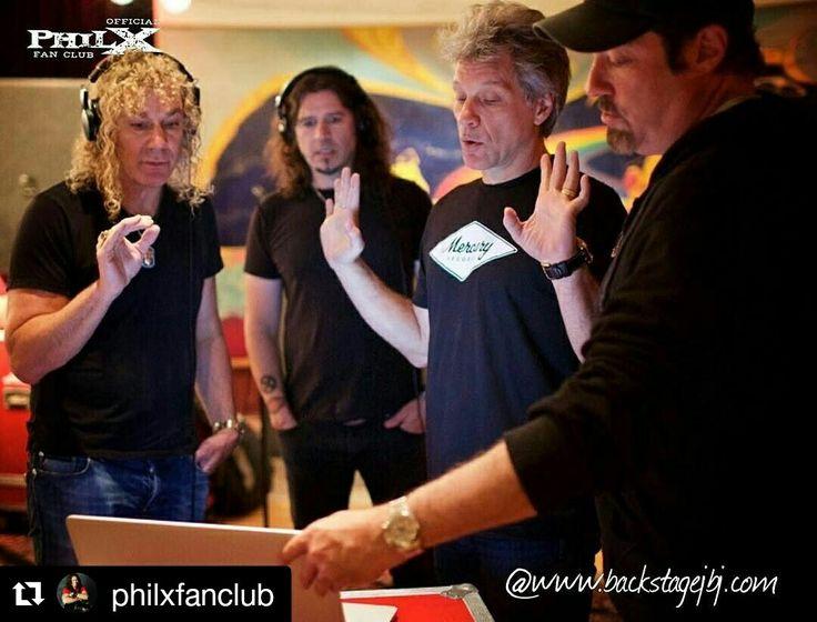 #Repost @philxfanclub with @repostapp ・・・ Phil X in the studio with #jonbonjovi…