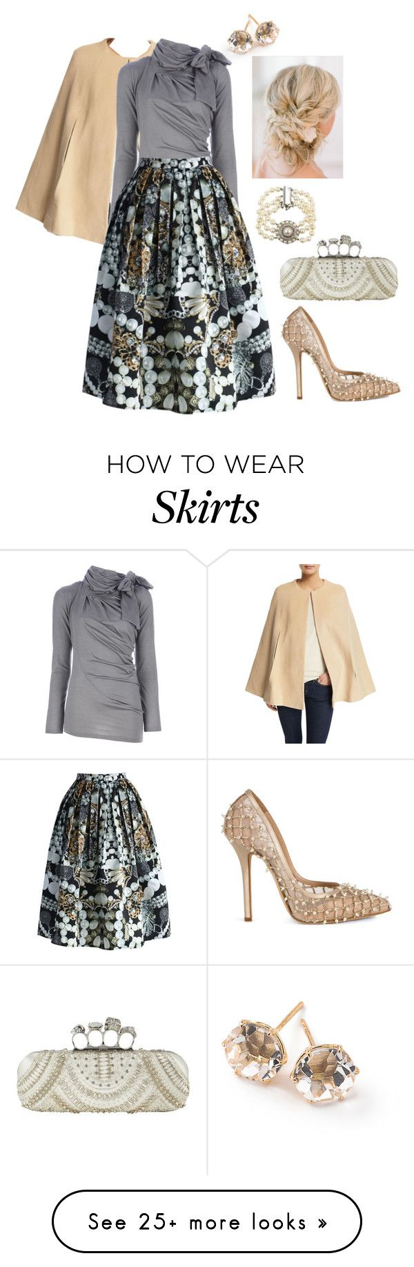 """""""Jewelry Box Skirt"""" by mrs-ginger-boss on Polyvore featuring ThePerfext, Ippolita, Alexander McQueen, Chicwish, Oscar de la Renta and Lucien Piccard"""