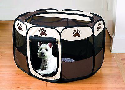Portable Dog Pen U2013 Outdoor U0026 Indoor Puppy Pen U2013 Paw Print Dog Playpen