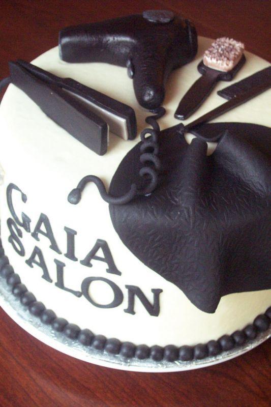 Salon celebration cake
