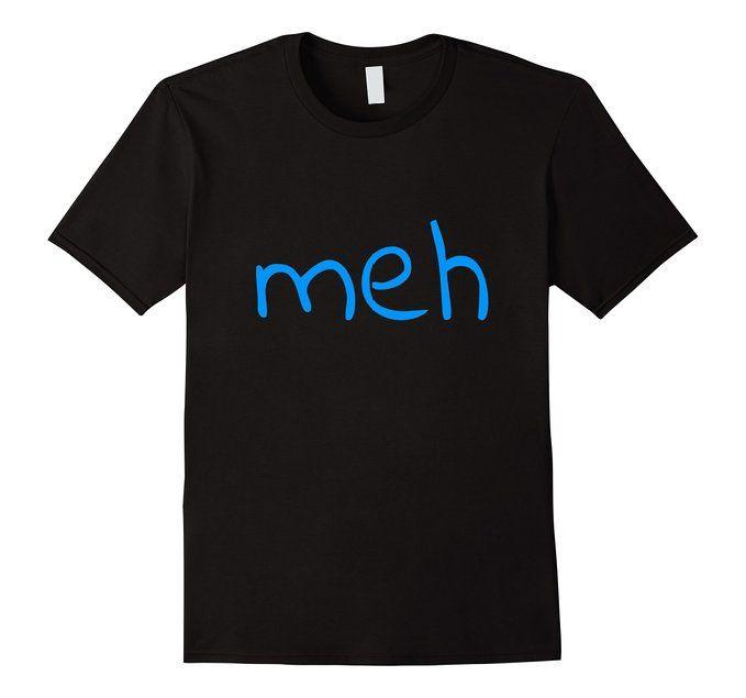 Men's meh - T-Shirt Funny Shirt 3XL Black