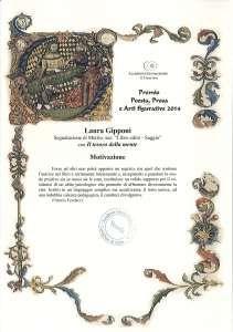 """Premio letterario internazionale """"Il Convivio"""" - motivazione per segnalazione di merito"""