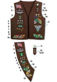 Brownie Uniform - Pins & Patch Placement