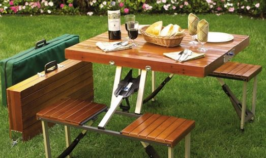 Picnic table that folds into a suitcase! Probably one of the most useful, coolest things I've seen in awhile.