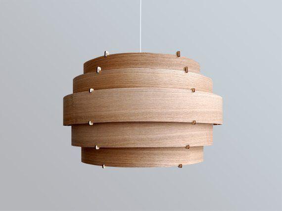 Veneer Lamp Wood Lamp Wooden Lamp Shade Hanging Lamp