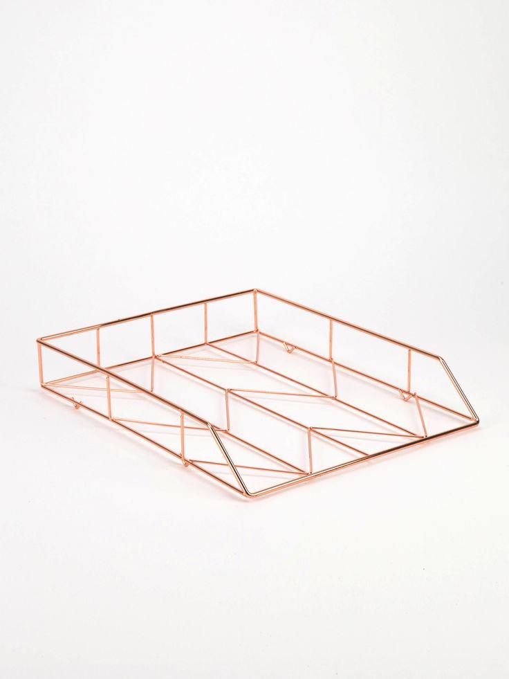 U Brands Copper Wire Letter Tray