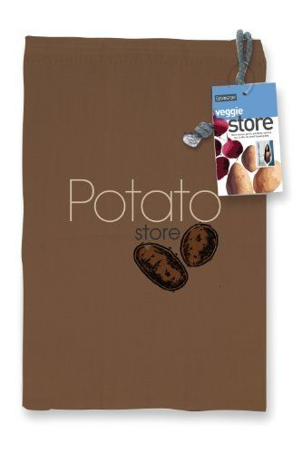 Potato Bag by Eddingtons. $4.99. Tags: Health, Green Living. Manufactured by Eddingtons. Keep your potatoes fresher for longer. The canvas bag is breathable and complete with a black out lining to help prevent potatoes from sprouting. The bag closes at the top with a drawstring and has a zippered bottom.