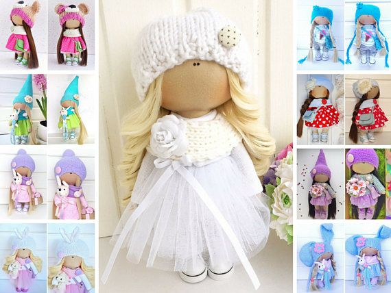 Docka Kukull Soft doll Baba Panenka Rag doll Fabric doll Art doll Bambola Tilda doll White doll Dukke Handmade doll Textile doll by Olga L
