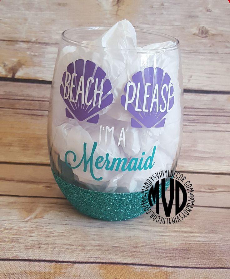 Wine Glasses - Beach Please Im A Mermaid Wine Glass